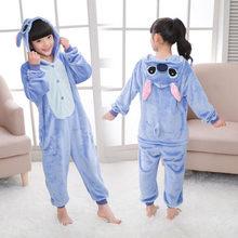 214b6868d80 Детская Фланелевая пижама с см изображением единорога и панды для мальчиков  и девочек вечерние 85-