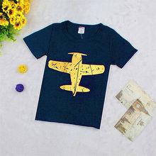 Summer 2016 Kids Boy Fashion T shirt Tee Children Summer Causal Short Sleeve Cotton Tops 1