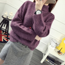 Autumn and font b winter b font hot selling turtleneck pullover sweater women s loose short