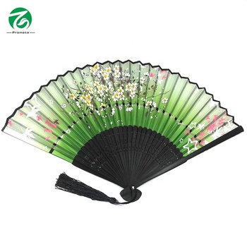 Custom Japanese style bamboo hand fan