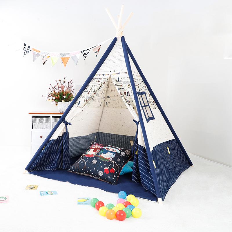 Палатка детская вигвам из хлопка для индийских игр
