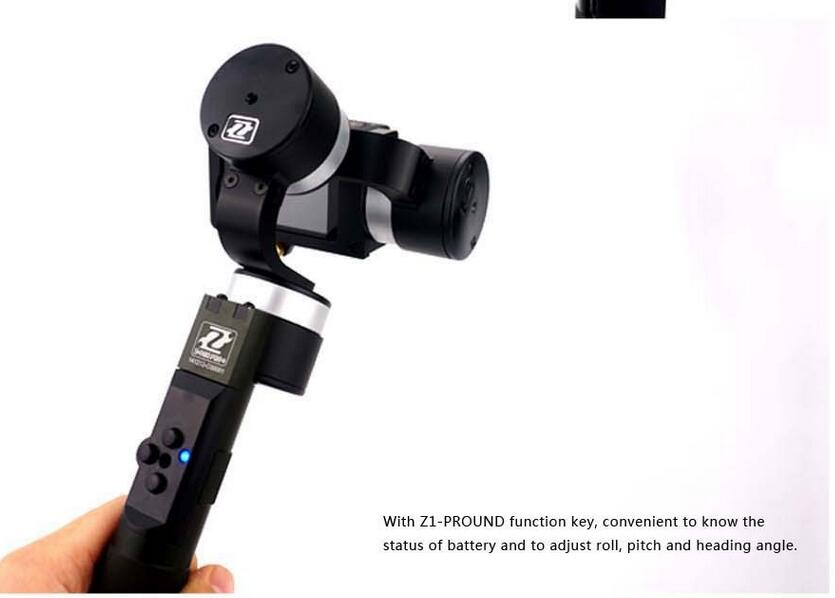 Z1 Pround 3axis Brushless Hidden Wire Handheld Gopro Gimbal For Gopro Hero