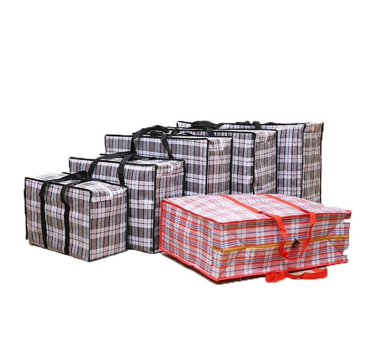 Индивидуальная упаковка для путешествий прочная водонепроницаемая большая сумка-тоут из полипропилена тканая спортивная сумка на молнии