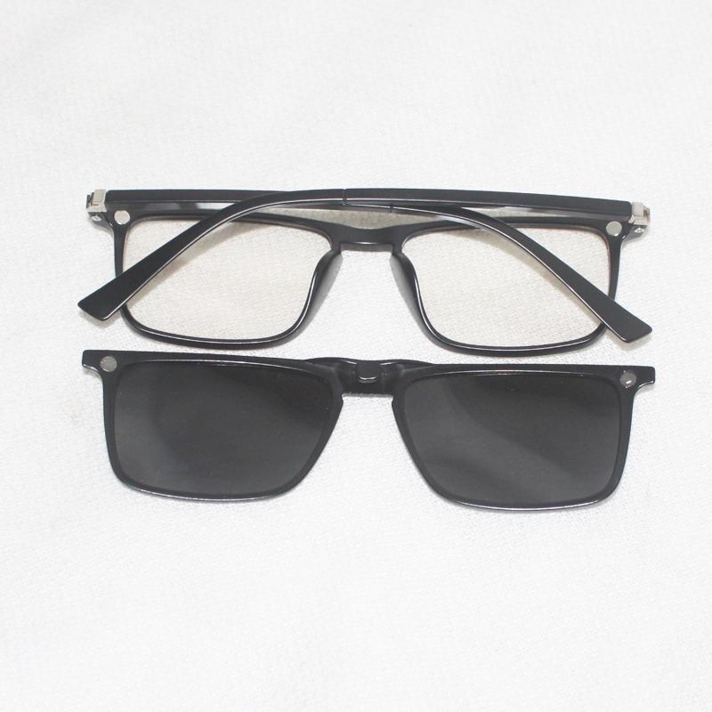 Lunettes de soleil Magnésium Frame Hommes Polarisé Miroir Verres Design classique
