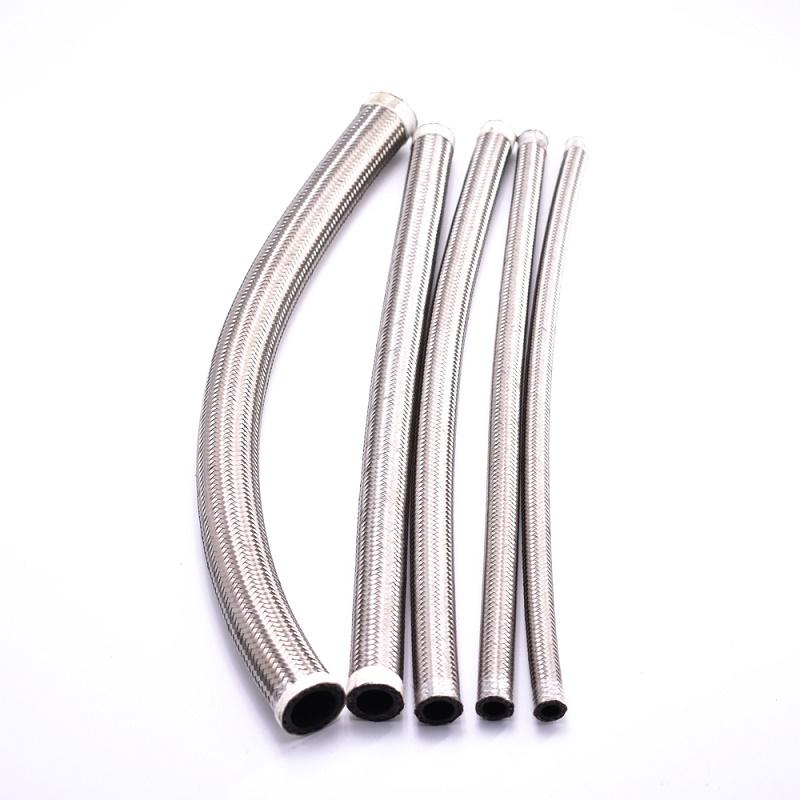 Автозапчасти, шланг для масляного радиатора PTFE, двойной плетеный шланг из нержавеющей стали-CPE