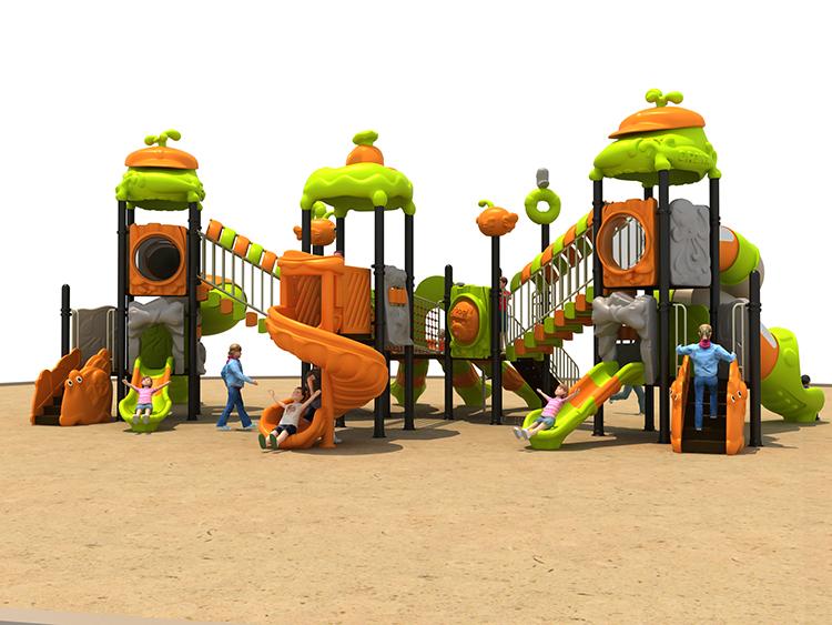 Детская пластиковая уличная игровая площадка на заказ с горкой и качели для бассейна, детская игровая площадка
