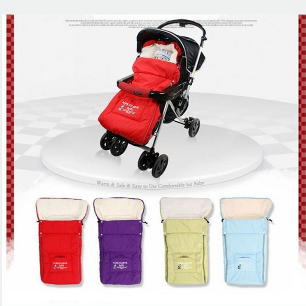 Детские коляски спальные мешки дети Sleepsacks коляска детская Fleabag зимой толстые Winderproof конверт одеяло сумка EJ673275