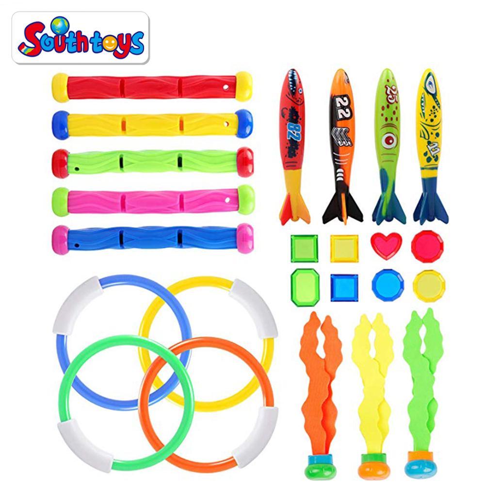 SolUptanisu 3pcs//Set Underwater Fun Swimming Pool Toys Sea Plant Shape Diving Toys for Swimming Training Playing