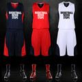 Basketball Man Set Jersey Shorts Fitness Boy Breathble Quick Dry Sport Basketball Male Shirts Suit Custom
