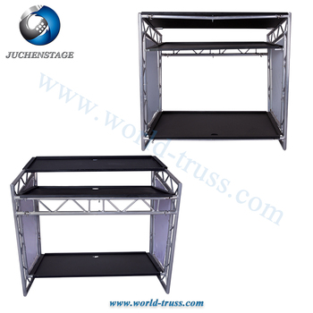 Display Truss Stage Aluminum DJ Mixer Stands Cabinet Racks, DJ Counter Mobile DJ Table, DJ Set for DJ Booth