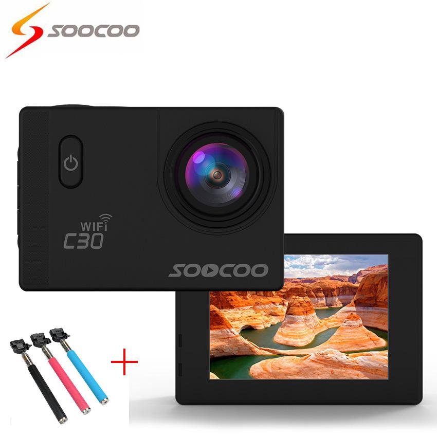 [+ Селфи Палка] SOOCOO C30 4 К Wi-Fi камера Действий Спорта Камеры (70-170 Градусов) 2.0 LCD DVR Видео Мини Камеры deportiva Видеокамеры Камеры