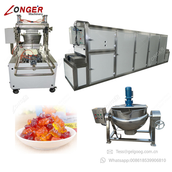 Industrial Jelly Candy Production Line 50Kg/h Small Model Jelly Candy Machine