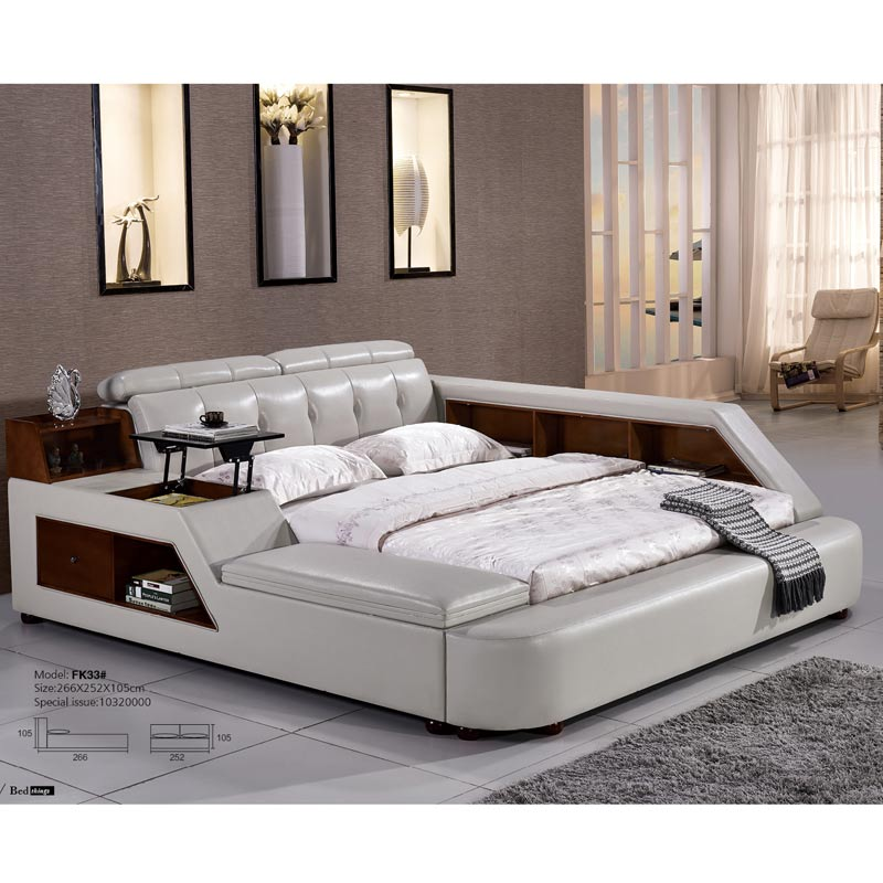 White Genuine Leather Bed French Royal Fancy Bedroom Furniture Sets Buy French Bedroom Furniture Royal Bedroom Furniture Set Fancy Bedroom Furniture Sets Product On Alibaba Com