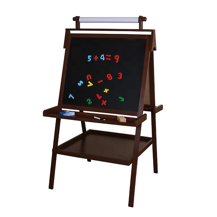 2020 New hottest educational wooden kids drawing board with accessories W12B125
