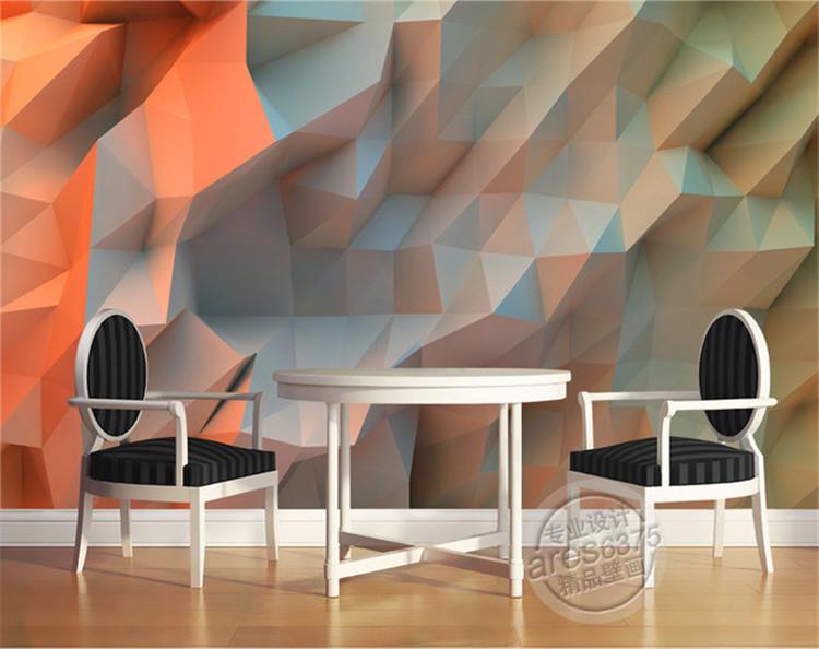 3D Creative Orange Space Wallpaper Bedroom Unique Design