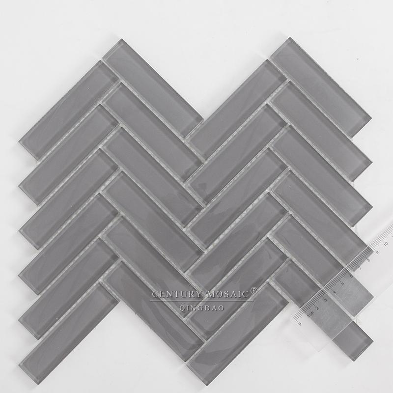 first class century crystal glass herringbone mosaic tile kitchen tile