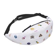 Женская поясная сумка TTOU, модная разноцветная поясная сумка с объемным принтом, поясная сумка на пояс, хит продаж(Китай)