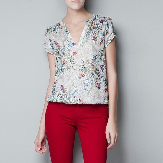 Compra georgette de seda blusa online al por mayor de