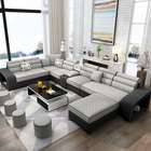 Modern style new design living room fabric U shope sofa wholesale price