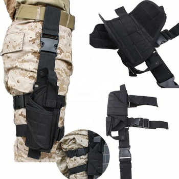 Customized Tactical Army Black Gun Drop Leg Thigh Holster