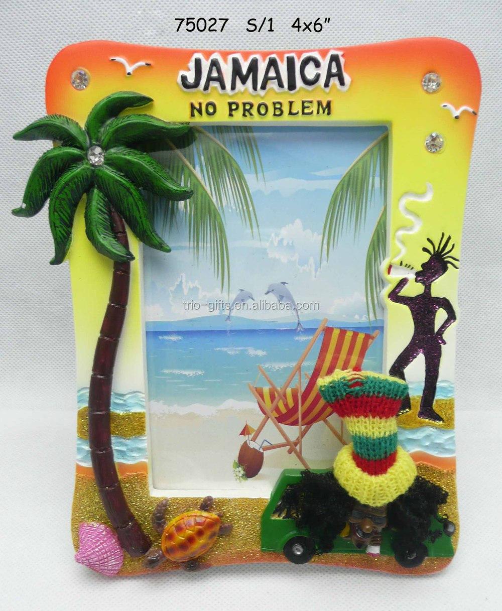 Jamaica Rasta Photo Frames Wholesale With Palm Tree