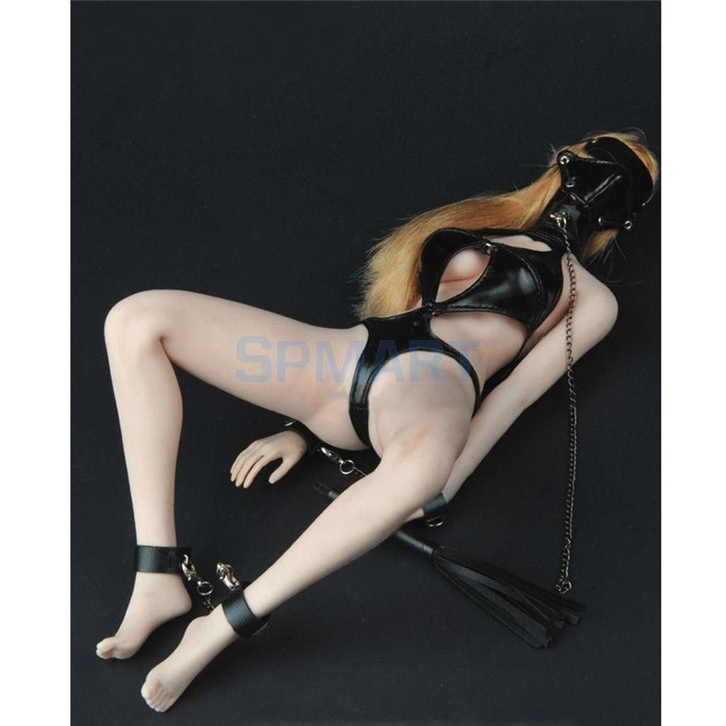 99af29feb7b 1/6 Sexy SM Lingerie Suit PU Leather Outfit Bodysuit for 12'' Hot Toys  Phicen CY Girls Female Action Figure Body Accessories