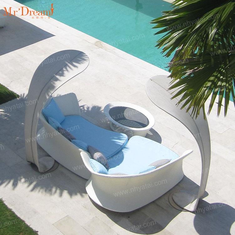 Роскошный модульный L-образный современный садовый Плетеный секционный диван