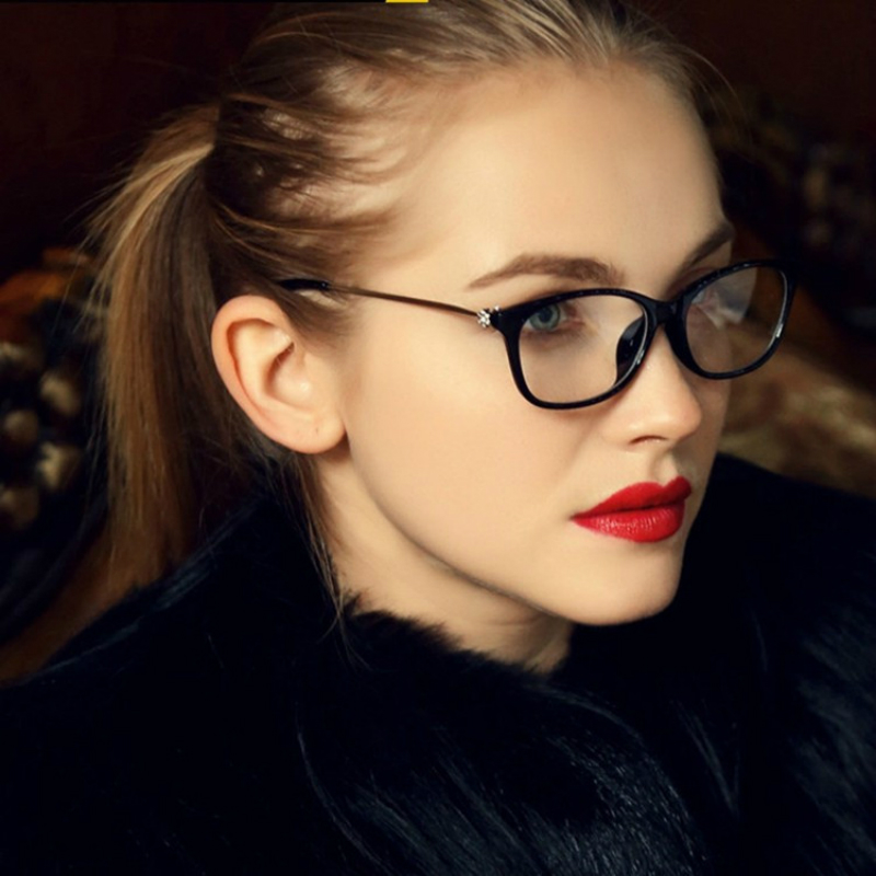 688ba0a480 ANEWISH Vintage Fashion Glasses Frame Women Diamond Sexy Cat Eye Retro  Eyeglasses Clear Lens .