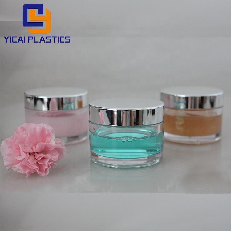 5-350G round cosmetic jar acrylic cream empty mini jar