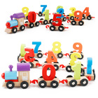 kids baby wooden toys educational for kid children child boy girl intelligent toy craft cars wood toy three 0-9 numbers train