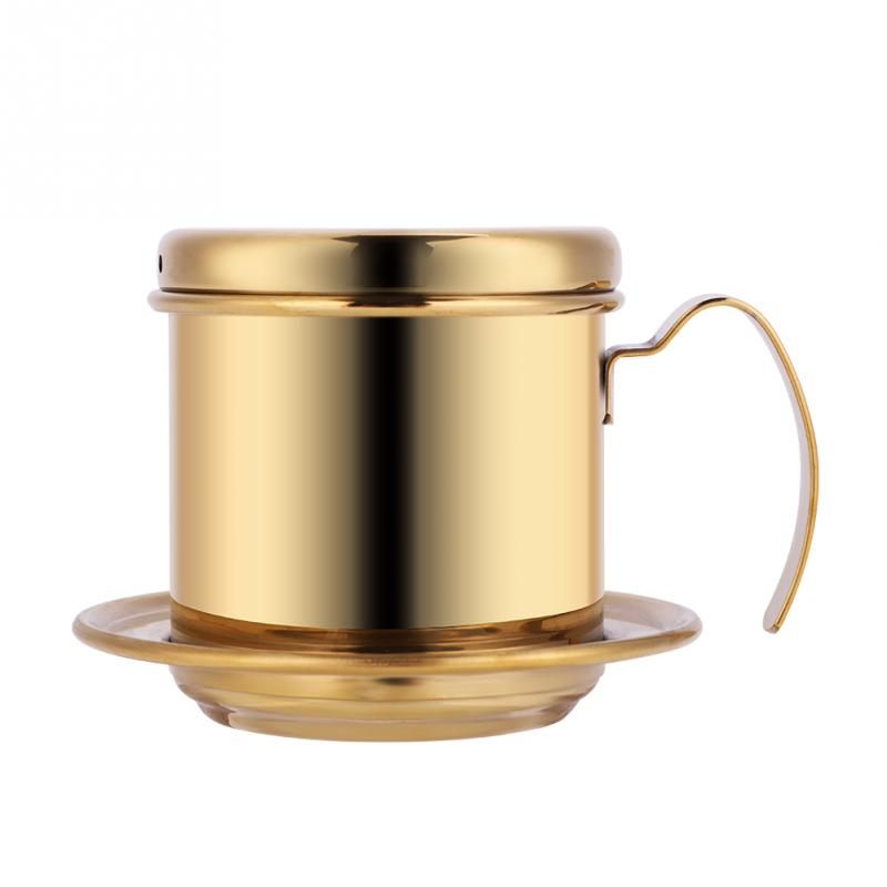 Чашка из нержавеющей стали вьетнамский кофе капельного фильтра чайник для заварки высокое качество капельного кофе фильтр горшок фильтры ...(Китай)