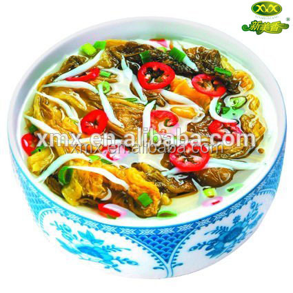 Freeze Dried pickled cabbage silver fish soup