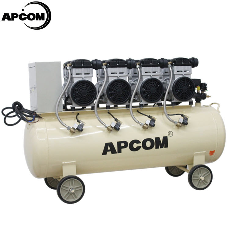 Aircompressors APCOM EX1500*5-230 7.5 kw 10HP Oil Free Yiwu Air Compressors With 230 Litre Air Tank air-compressor