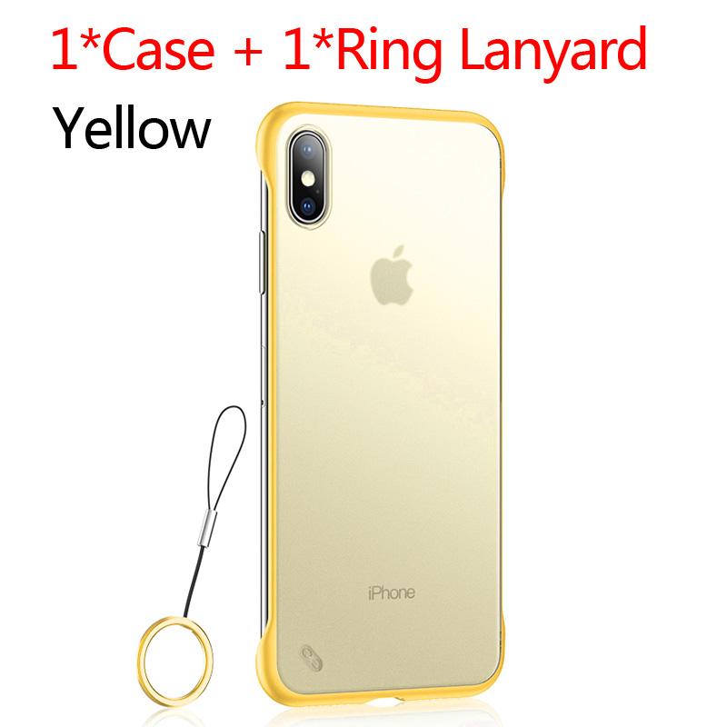 USLION безрамный Прозрачный чехол для телефона iPhone X 7 6S 8 Plus, чехол XS Max XR 11 Pro Max с держателем для кольца на палец, чехлы-подставки(Китай)
