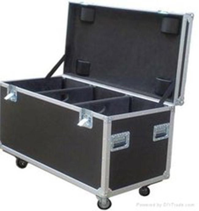 Выставочный дорожный ящик из алюминия, ящик для инструментов для транспортировки, ящик из фанеры