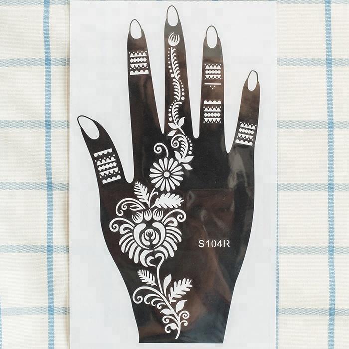 Custom woman lady drawing stencils henna sticker tattoo stencil