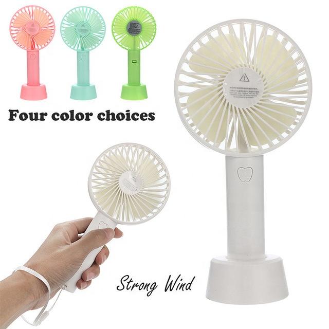 Летняя Новинка модный портативный ручной Перезаряжаемый USB мини настольный стоячий вентилятор
