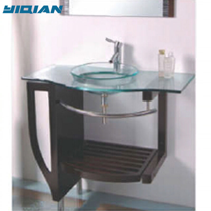 High Quality Glass Wash Basin Small Corner Bathroom Sink Vanity With Mdf Shelf Buy Sink Bathroom Vanity Small Corner Bathroom Vanity Glass Wash Basin Product On Alibaba Com