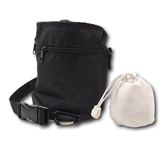 Waterproof Belt Drawstring Rock Climbing Zippered Pockets Chalk Bag