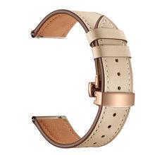 Роскошный ремешок из натуральной кожи с пряжкой-бабочкой для samsung Galaxy Watch 46 мм браслет для наручных часов gear S3(Китай)