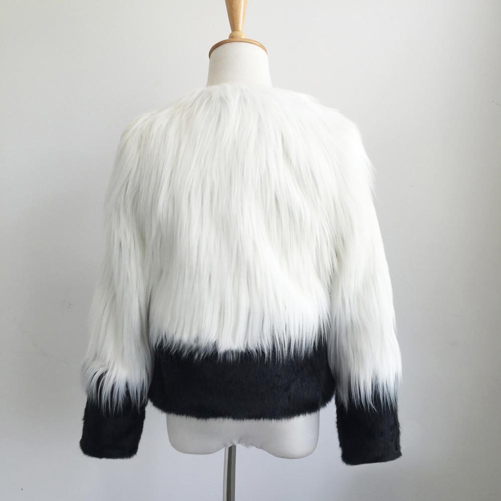 d9a4a7dc36a ISHOWTIENDA Faux Fur Coat Women 2018 Fashion Open Stitch Autumn Winter Faux  Fur Jacket Coat Overcoat Manteau Femme Hiver Faux Fur Cheap Faux Fur  ISHOWTIENDA ...