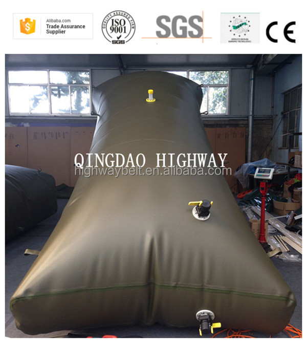 Foldable and mobile flexitank for diesel oil storage and transport