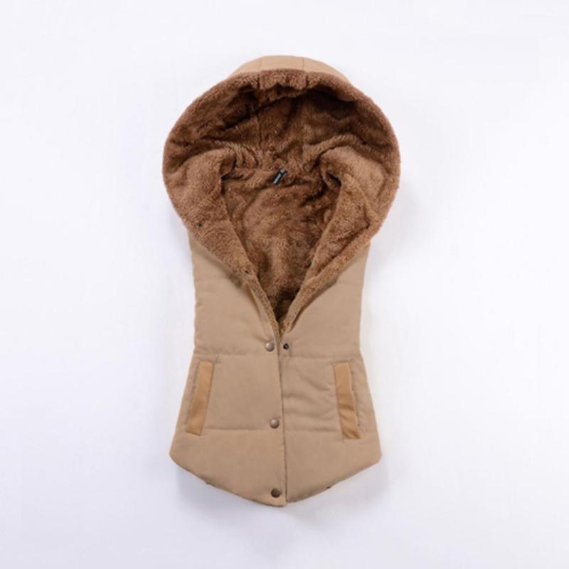 2015 высокое качество женщин теплый жилет с капюшоном женщины зимнее пальто теплое ватки жилет мода верхняя одежда Colete Feminino