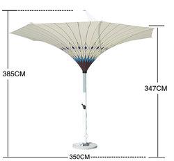 Новый дизайн, светодиодный пляжный солнцезащитный зонт, Солнцезащитный светодиодный зонт для внутреннего дворика, сада, уличный зонт