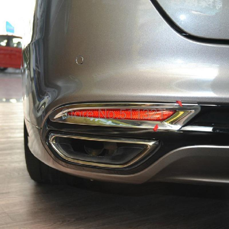 Fit For Ford Fusion Contour 2013 2014 Chrome Rear Fog