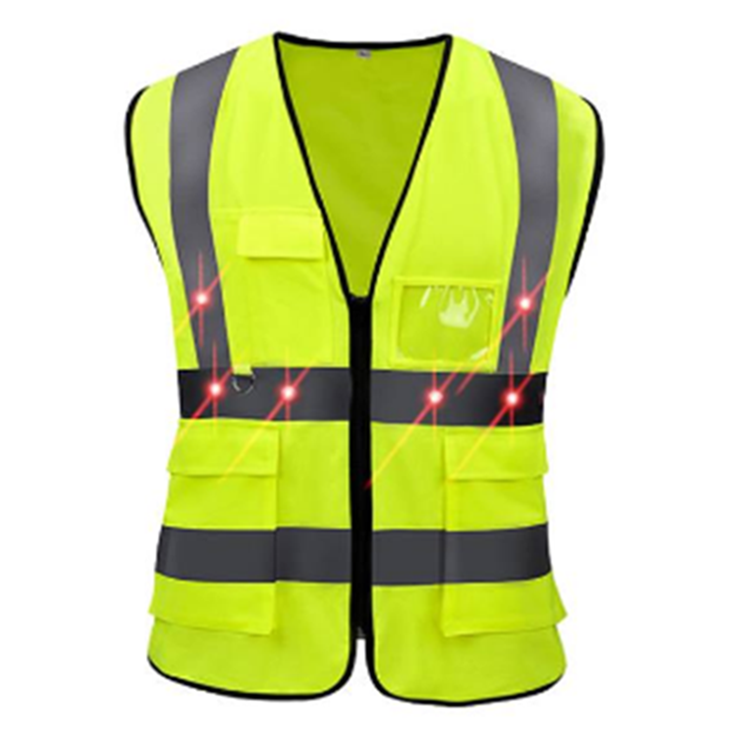 High Visibility flashing LED reflective safety vest - KingCare | KingCare.net