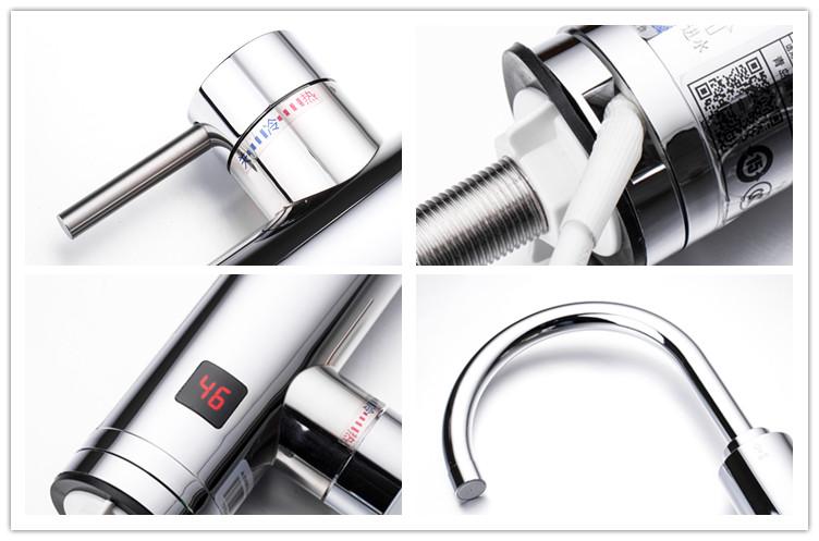 蛇口フル304ステンレス鋼インスタント給湯器電気温水タップ