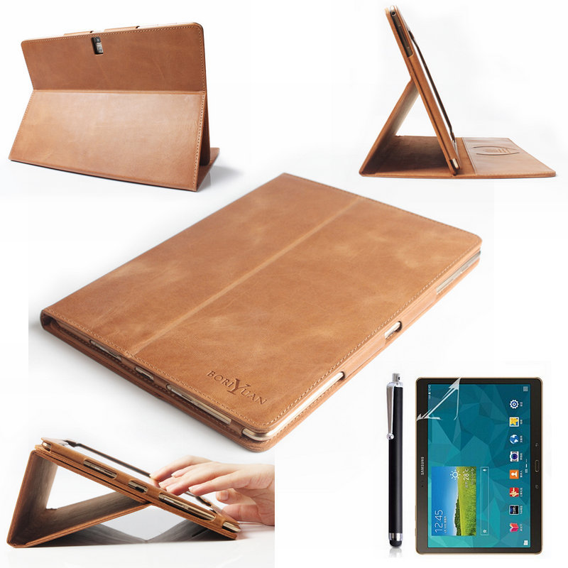 luxury genuine flip leather case cover for samsung galaxy. Black Bedroom Furniture Sets. Home Design Ideas
