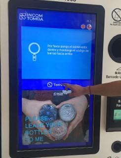 Обратный торговый автомат для бутылок из ПЭТ и алюминиевых контейнеров