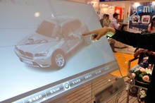 60 inch 2 points Interactive Transparent Touch Foil,usb touch foil film,touch film through glass window 16:9 format